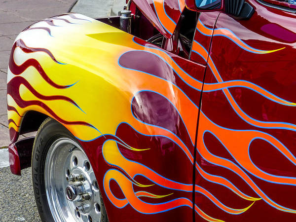 Chevy Pickup Art Print featuring the photograph Chevy Pickup Flames by Robert Grant