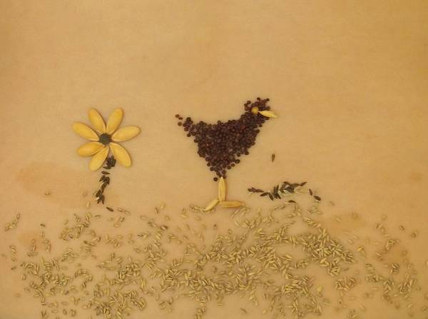 Heirloom Art Print featuring the photograph Happy Chicken by Jon Simmons