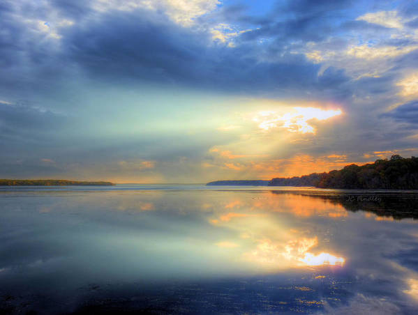 Sun Rays Art Print featuring the photograph Let There Be Light by JC Findley