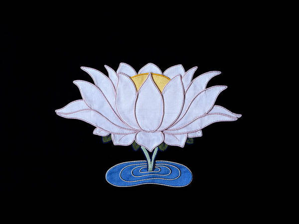 Lotusflower Art Print featuring the tapestry - textile Lotus by Leslie Rinchen-Wongmo
