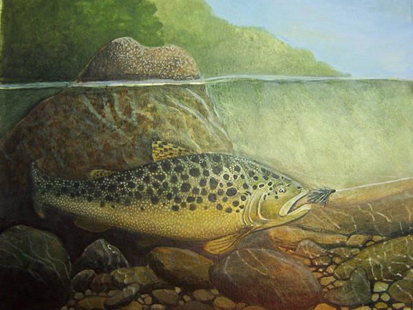 Rick Huotari Art Print featuring the painting Lurking by Rick Huotari