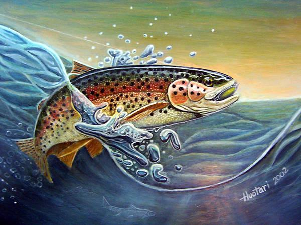 Rick Huotari Art Print featuring the painting Rainbow by Rick Huotari