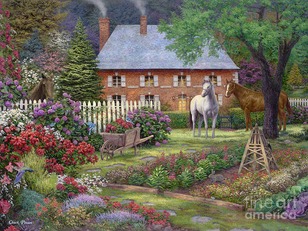 Mother's Day Gift Idea Art Print featuring the painting The Sweet Garden by Chuck Pinson