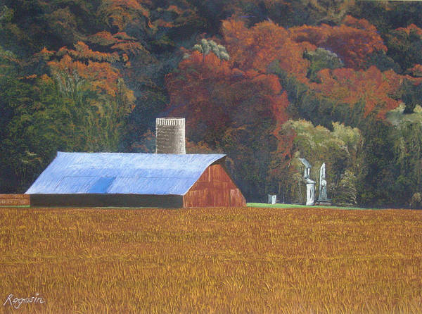 Landscape Art Print featuring the pastel Autumn Of Our Father's by Harvey Rogosin
