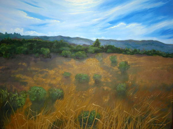 Landscape Art Print featuring the painting Looking Back To Betteravia by Jill Iversen
