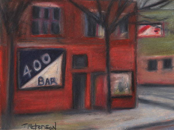 Bar Art Print featuring the painting 400 Bar Minneapolis by Todd Peterson