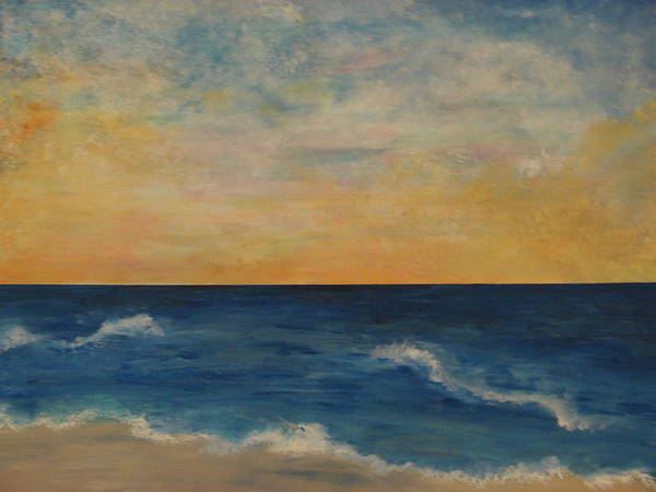 Landscape Art Print featuring the painting A Days End by Shiana Canatella