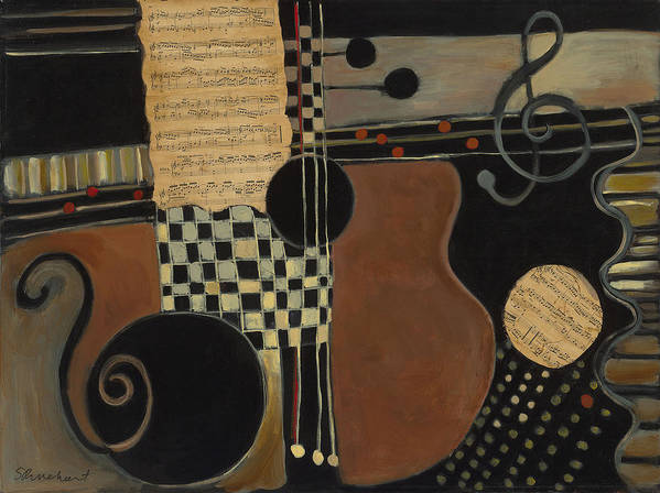 Music Art Print featuring the painting Allegro Moderato by Susan Rinehart