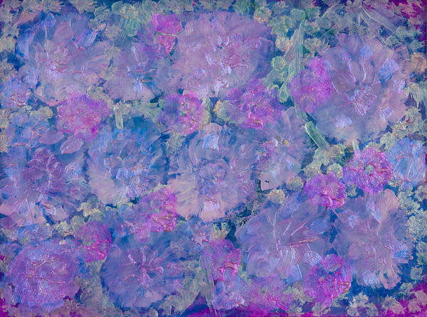 Acrylic Paint Print featuring the painting Blue Iridescent by Don Wright