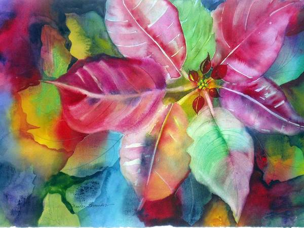 Flower Art Print featuring the painting Bold Bloom by Maritza Bermudez