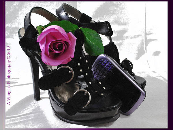 Shoes Art Print featuring the photograph Call Me Gorgeous by Amanda Vouglas