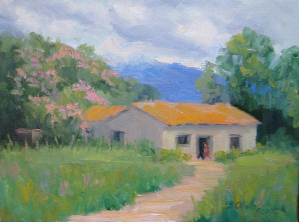 Honduras Art Print featuring the painting Casita De Campo by Bunny Oliver