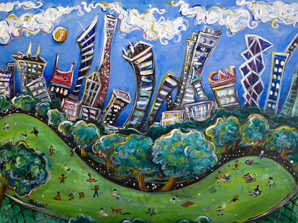 New York City Art Print featuring the painting Central Park South by Jason Gluskin
