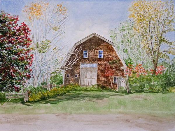Landscape Art Print featuring the painting Forgotten Beauty by Monika Degan