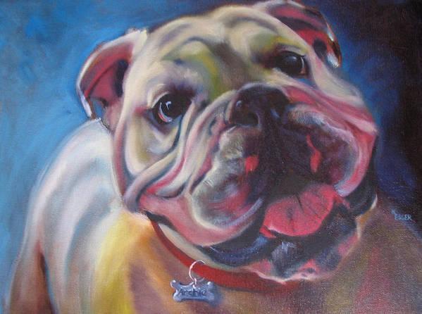Bulldog Art Print featuring the painting Georgia Bulldog by Kaytee Esser