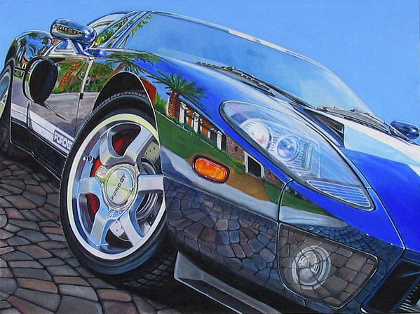 Car Art Print featuring the painting Love On The Rocks by Lynn Masters