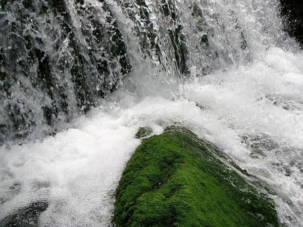 Waterfall Art Print featuring the photograph Mossy Rock by Jessica Dandridge