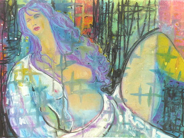 Painting Art Print featuring the painting Odalisque by Todd Peterson