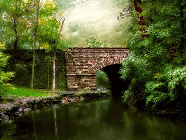 Old Countrybridge Green Art Art Print featuring the photograph Old Country Bridge by Jessica Jenney