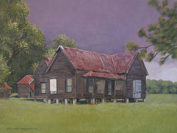Landscape Art Print featuring the painting On The Blocks by Peter Muzyka