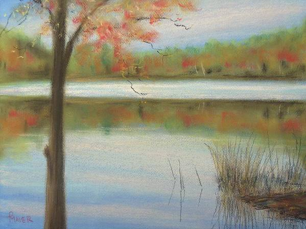 Lakescape Art Print featuring the painting Pastel Lake by Pete Maier