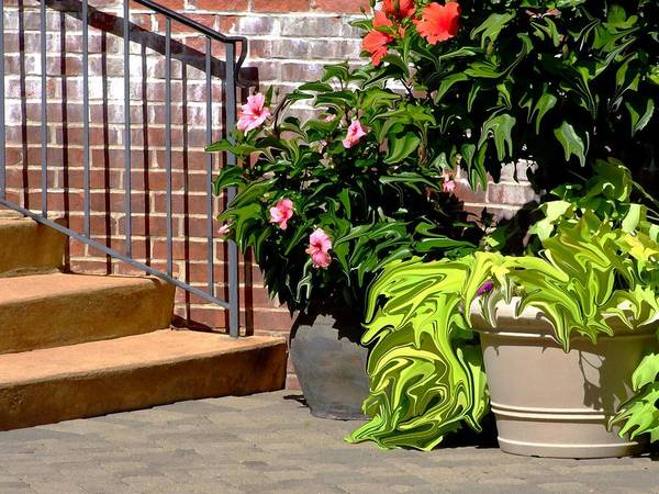 Scenic Art Print featuring the photograph Patio Scenic by Jim Darnall