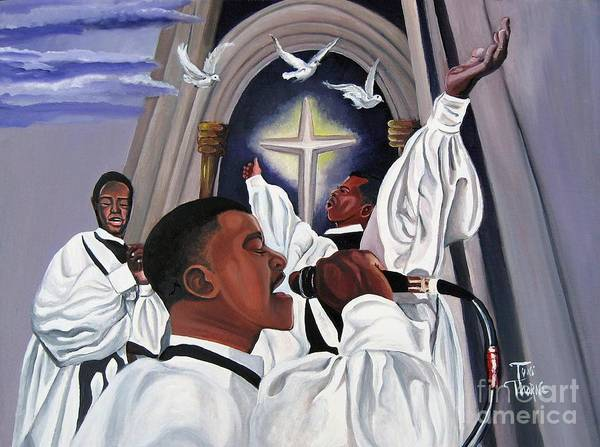 Painting Art Print featuring the painting Praising God by Toni Thorne