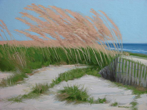 Ocean Dunes Art Print featuring the painting Sand Dunes No 2 by Robert Rohrich