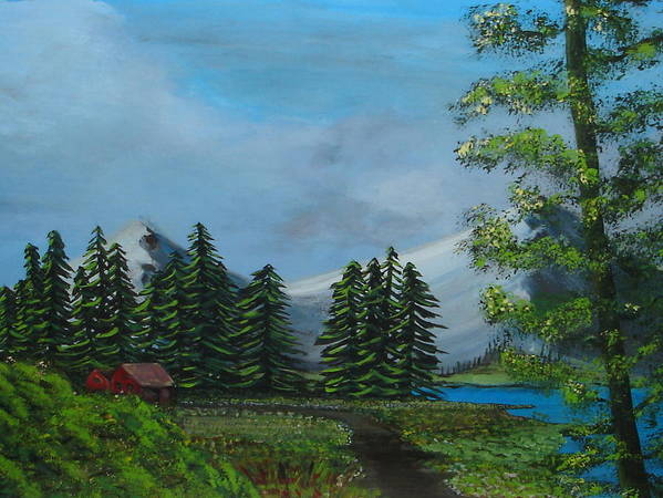 Scenery Art Print featuring the painting Saskatchewan by Lessandra Grimley