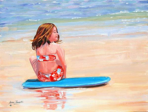 Oil Painting Art Print featuring the painting Surfside by Laura Lee Zanghetti
