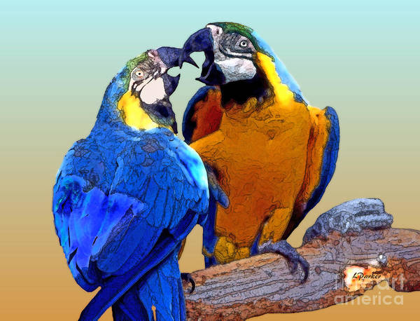 Tropical Art Print featuring the photograph Parrot Passion 2 by Linda Parker