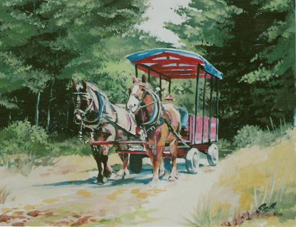 Horses Art Print featuring the painting Giddyup by Barry Smith