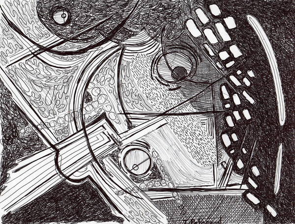 Drawing Art Print featuring the drawing Minds Eye View by Todd Peterson