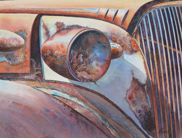 Thirty Seven Chevy Art Print featuring the painting Nesting Place by Don Trout