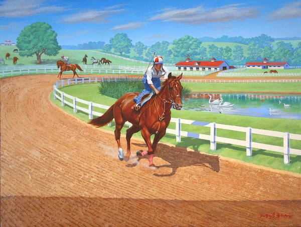 Western Artist Art Print featuring the painting Spring Training by Howard Dubois