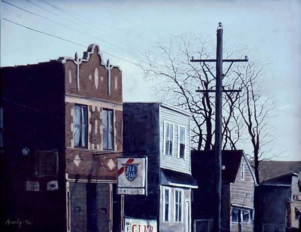 Urban Art Print featuring the painting Halsted by William Brody