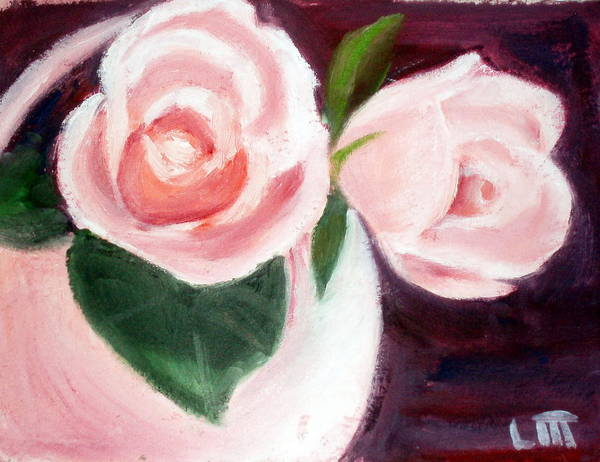 Roses Art Print featuring the painting The Usual Suspects by Lia Marsman