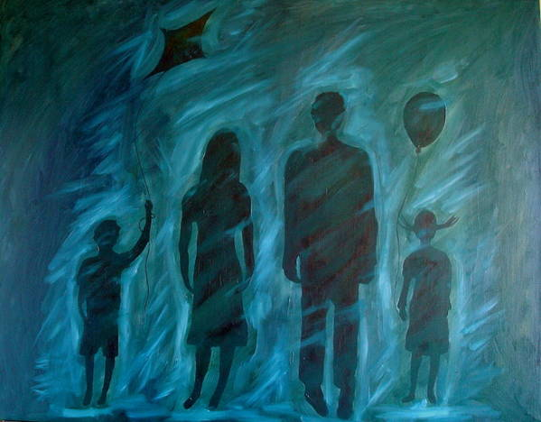 Family Art Print featuring the painting Unnecessary by W Todd Durrance