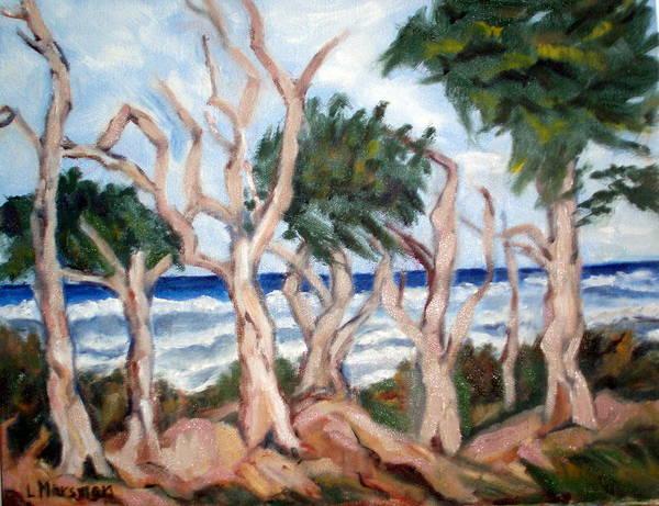 Ocean Art Print featuring the painting Wild Coast by Lia Marsman