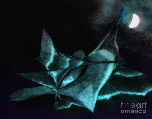 Abstract Art Print featuring the photograph A Dream - Flying To The Moon by Gerlinde Keating - Galleria GK Keating Associates Inc
