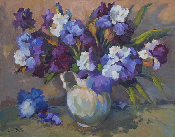 Irises Art Print featuring the painting Irises by Diane McClary