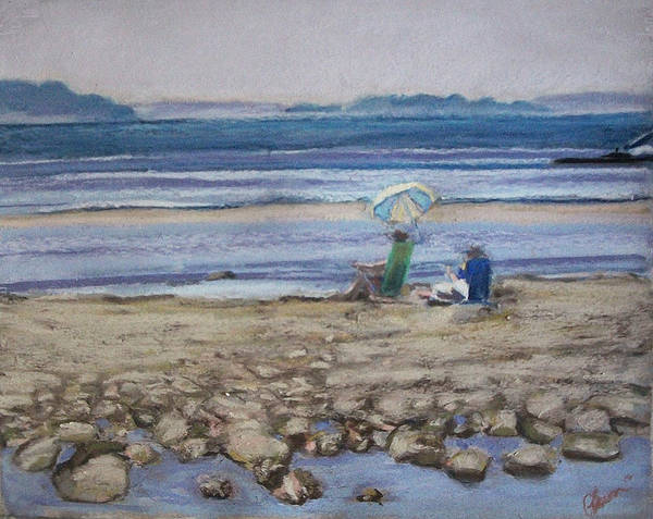 Mid-coast Maine Art Print featuring the pastel Saltair by Grace Keown