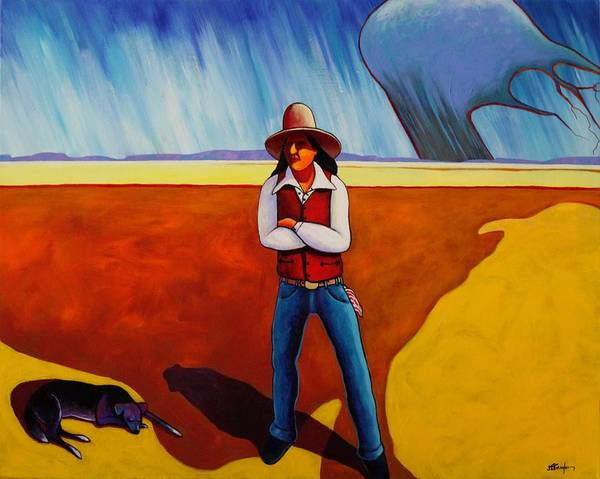 Native American Art Print featuring the painting The Logic Of Solitude by Joe Triano