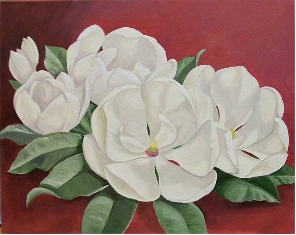 Flower Art Print featuring the painting The Southern Beauty by Wanda Dansereau