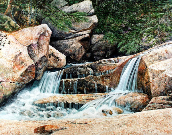 Landscape Art Print featuring the painting Mountain Stream by Frank Wilson