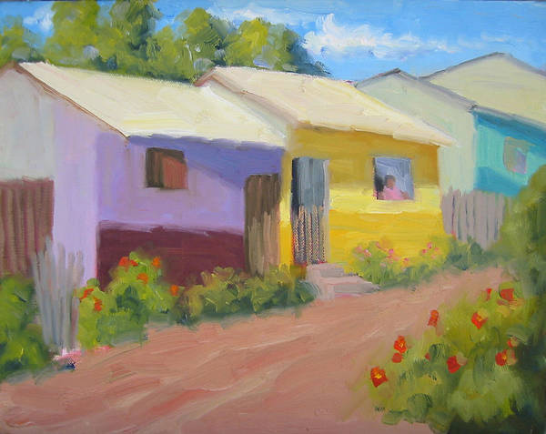 Honduras Art Print featuring the painting Carmens Casa by Bunny Oliver