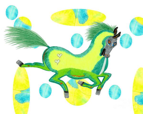Horse Art Print featuring the painting Imu by Tess M J Iroldi