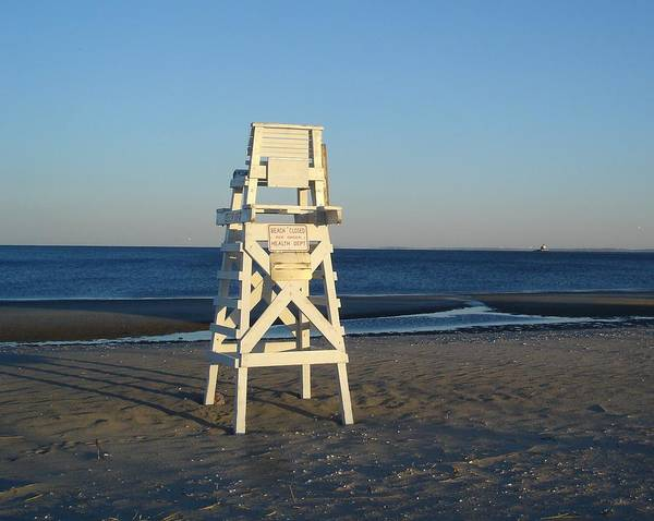 Lifeguard Chair Art Print Featuring The Photograph Lifeguard Chair By  Margie Avellino