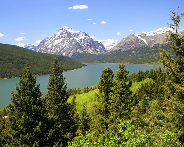 Two Medicine Lake Art Print featuring the photograph Lower Two Medicine Lake by Marty Koch