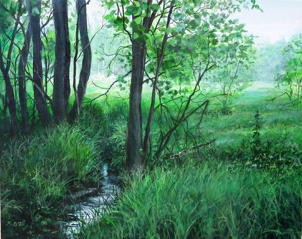 Landscape Art Print featuring the painting Opening by William Brody